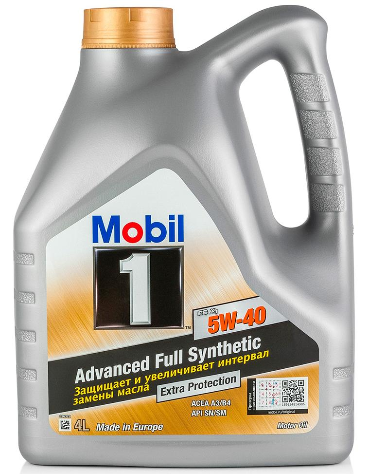 Моторное масло MOBIL 1 FS X1 SAE 5W-40 (4л)