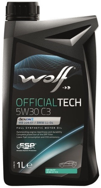 Моторное масло WOLF OfficialTech SAE 5W-30 C3 (1л)