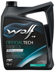 Моторное масло WOLF OfficialTech SAE 5W-30 C3 (5л)